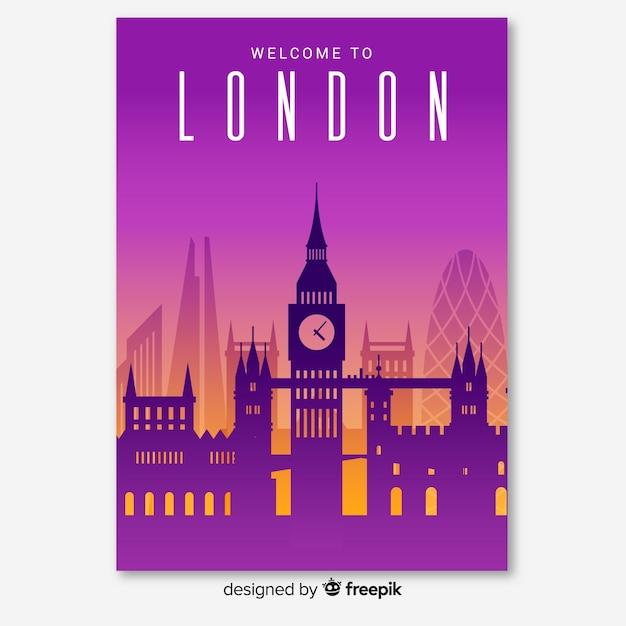 Londoner flyer Kostenlosen Vektoren