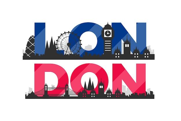 Londoner stadt schriftzug Kostenlosen Vektoren