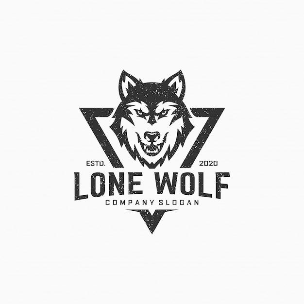 Lone wolf logo Premium Vektoren