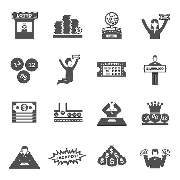 Lotterie icons set Premium Vektoren