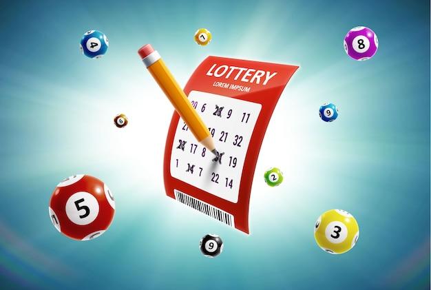 Lotteriehintergrund mit platz für text Premium Vektoren