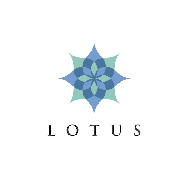 Lotus-blumenlogo-designschablone des lotos für eco, schönheit, badekurort, yoga, medizinfirmen. Premium Vektoren