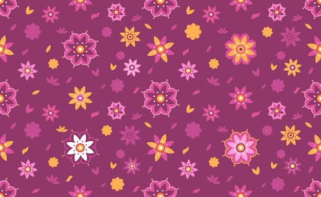 Lotus flower seamless pattern hintergrund Premium Vektoren