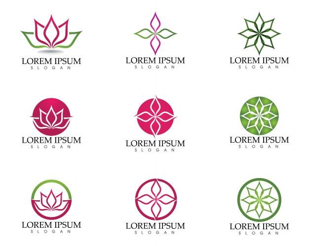 Lotus Flower Zeichen Für Wellness Spa Und Yoga Download Der