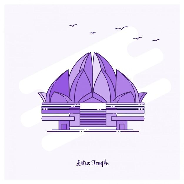 Lotus temple landmark purple Kostenlosen Vektoren