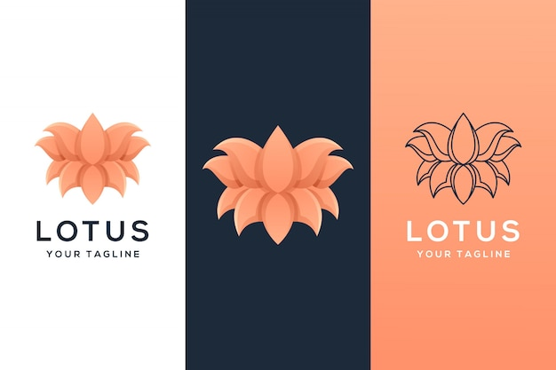 Lotusblumenlogo Premium Vektoren