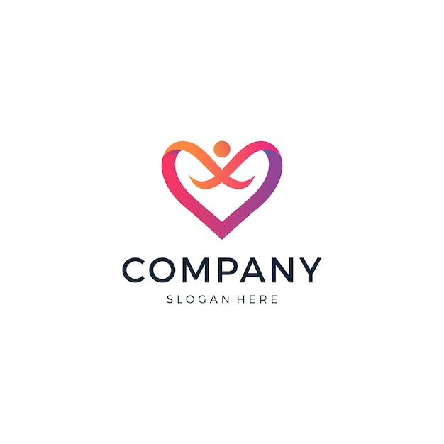 Love people-logo Premium Vektoren
