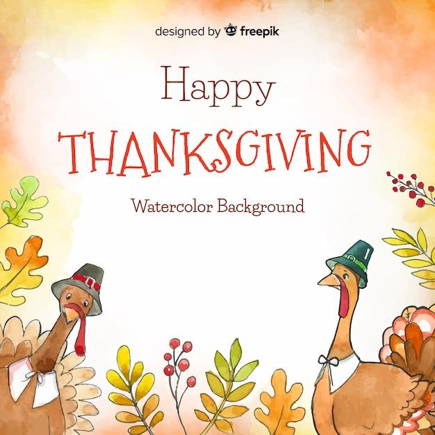 Lovely aquarell thanksgiving hintergrund Kostenlosen Vektoren