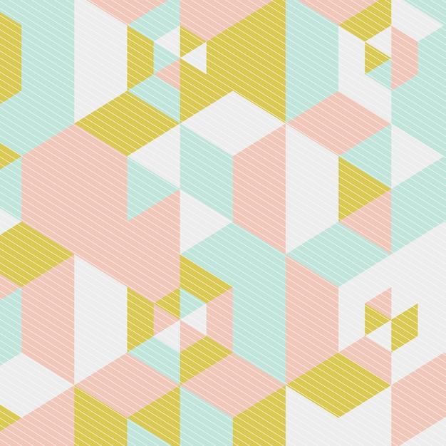 Low-poly-design im skandinavischen stil Kostenlosen Vektoren