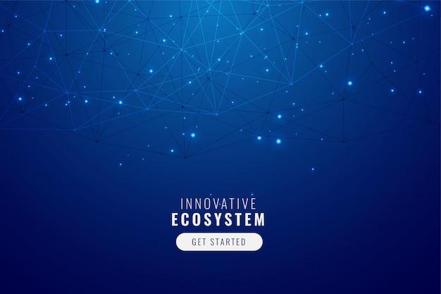 Low poly network mesh technologie hintergrund Kostenlosen Vektoren