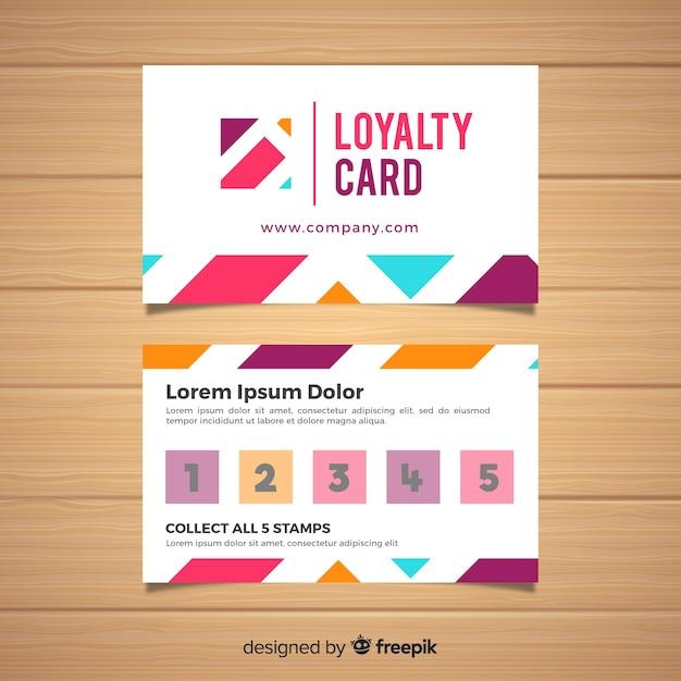 Loyalitätskartenschablone mit abstraktem design Kostenlosen Vektoren
