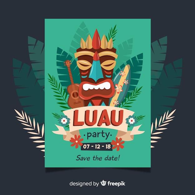 Luau party banner Kostenlosen Vektoren