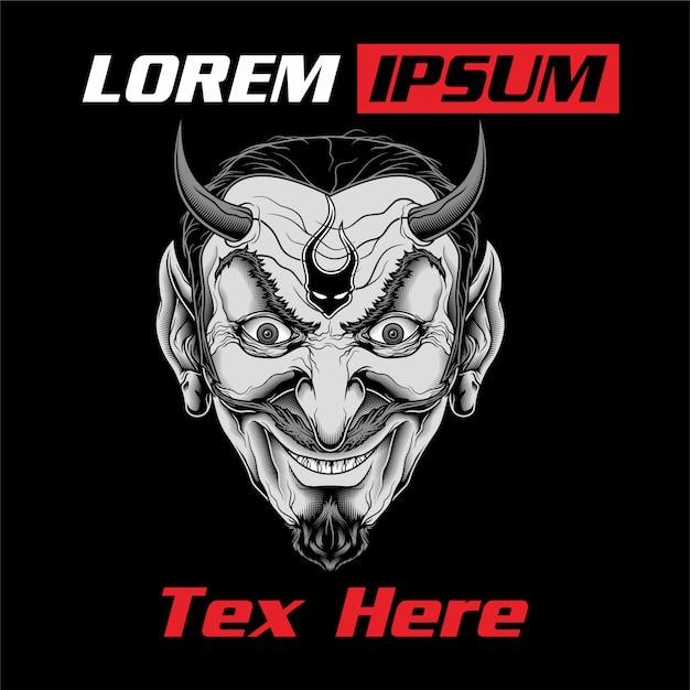 Lucifer-dämon-vektorhandzeichnung. Premium Vektoren