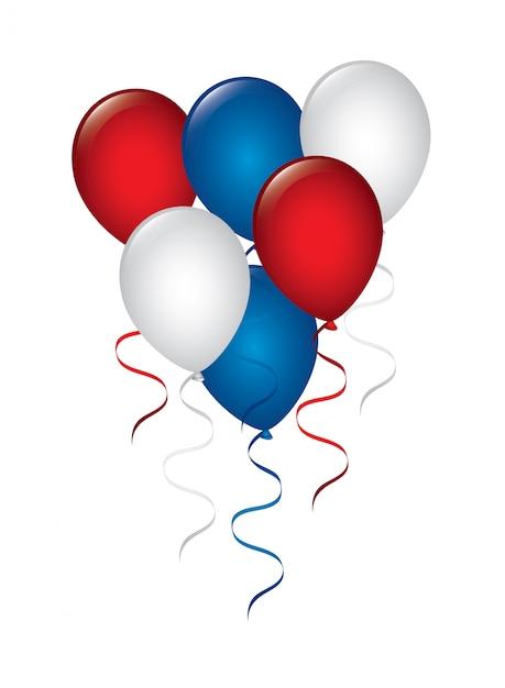 Luftballons design Premium Vektoren