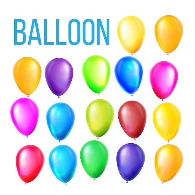 Luftballons set Premium Vektoren