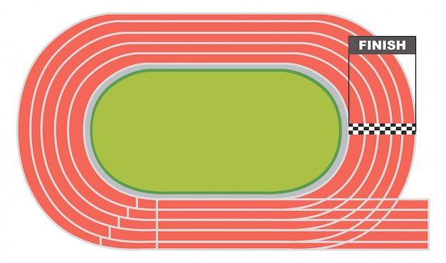 Luftbild von einer laufbahn Kostenlosen Vektoren