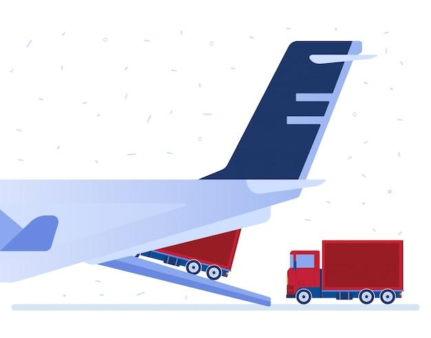 Luftlogistik-vektor-illustration. Premium Vektoren