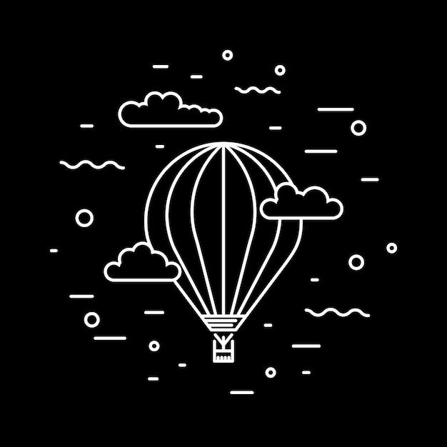 Luftschiff und heißluftballons luftschiff Premium Vektoren