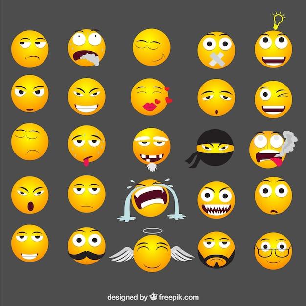 Lustige Emoticons Download Der Kostenlosen Vektor