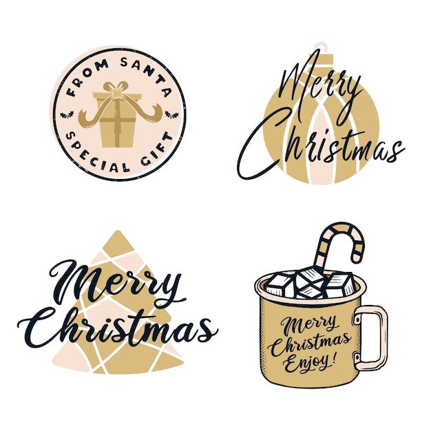 Lustige frohe weihnachten Premium Vektoren