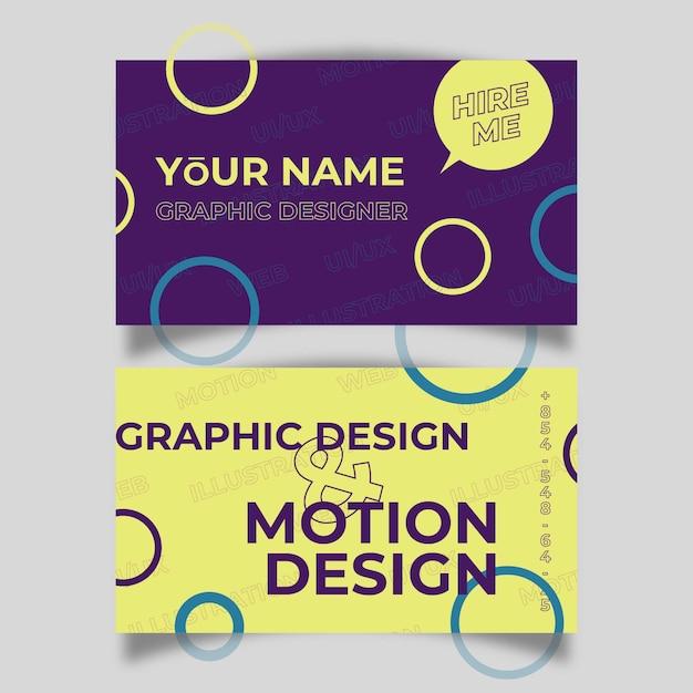 Lustige Grafikdesigner Visitenkarte Der Schablone