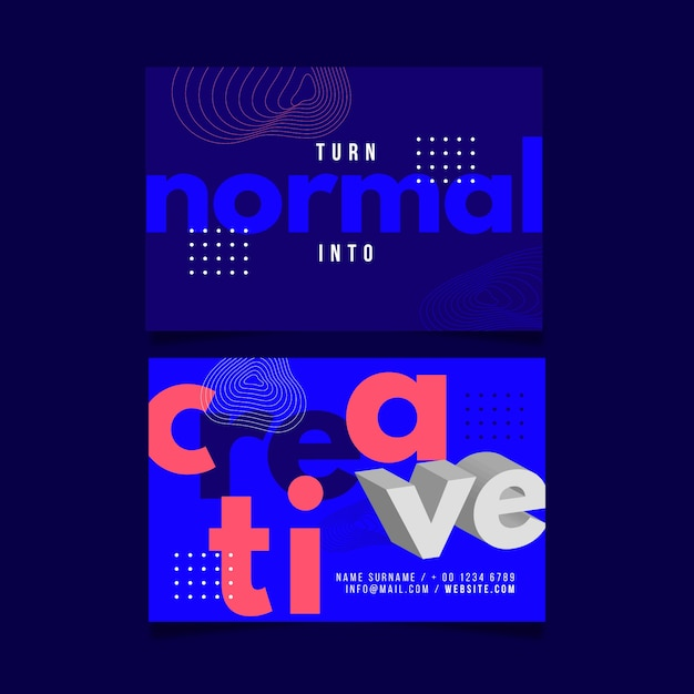 Lustige grafikdesigner-visitenkarteschablone Kostenlosen Vektoren