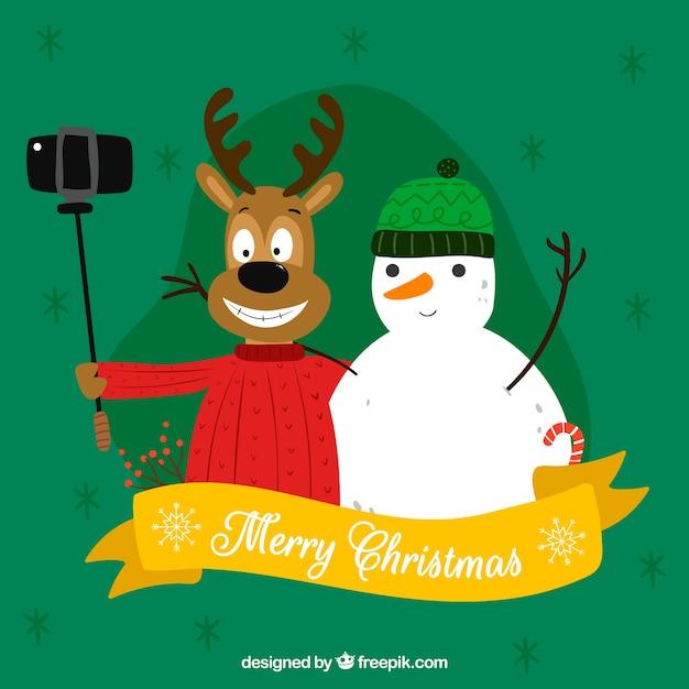 Frohe Weihnachten Lustige Bilder.Lustige Hand Gezeichnete Frohe Weihnachten Download Der