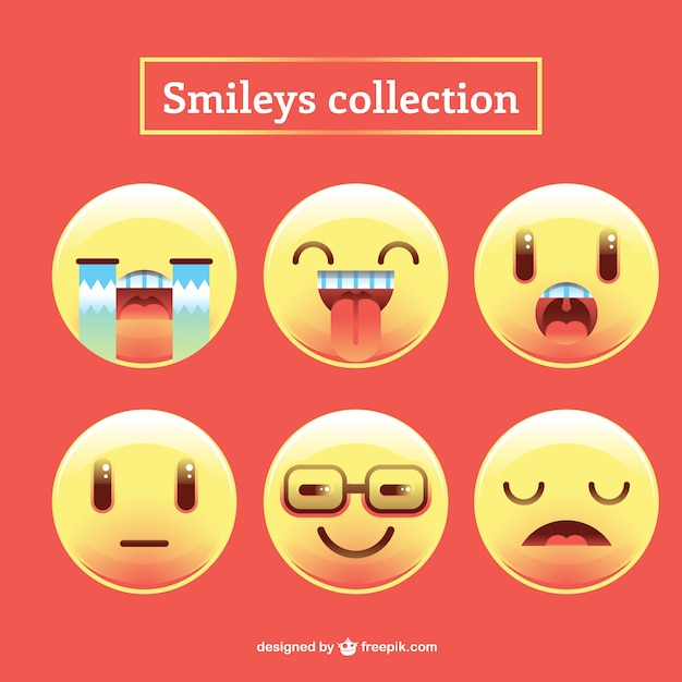 lustige smileys sammlung download der kostenlosen vektor. Black Bedroom Furniture Sets. Home Design Ideas