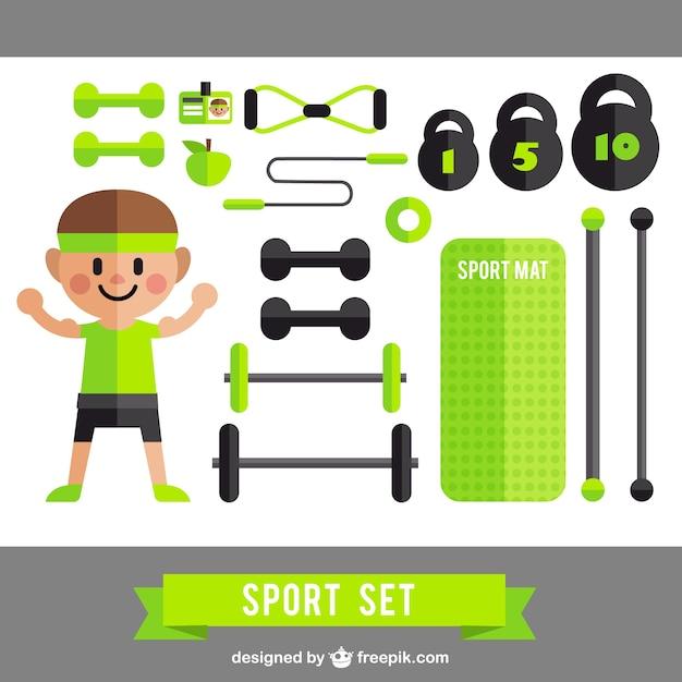 Lustige sport-set Kostenlosen Vektoren