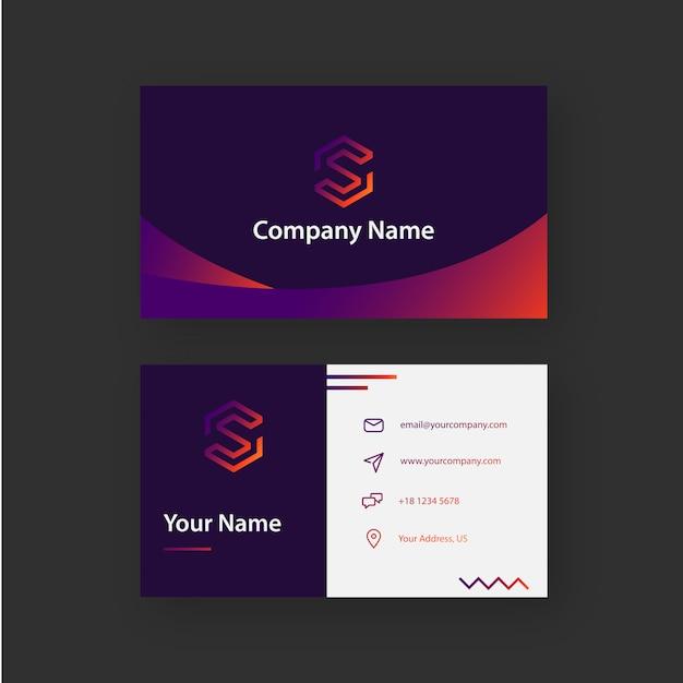 Lustige Steigungs Visitenkarte Premium Vektor