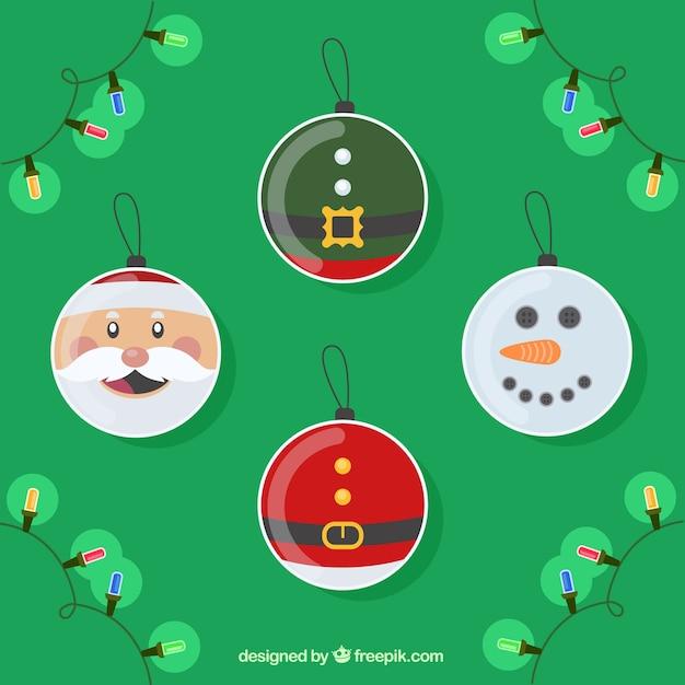 Lustige Weihnachtskugeln.Lustige Weihnachtskugeln Zeichen Download Der Premium Vektor