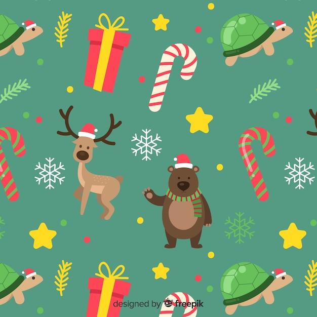 Lustiges buntes weihnachtsmuster Kostenlosen Vektoren