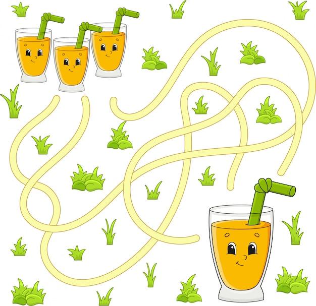 Lustiges labyrinth. spiel für kinder. puzzle für kinder. Premium Vektoren