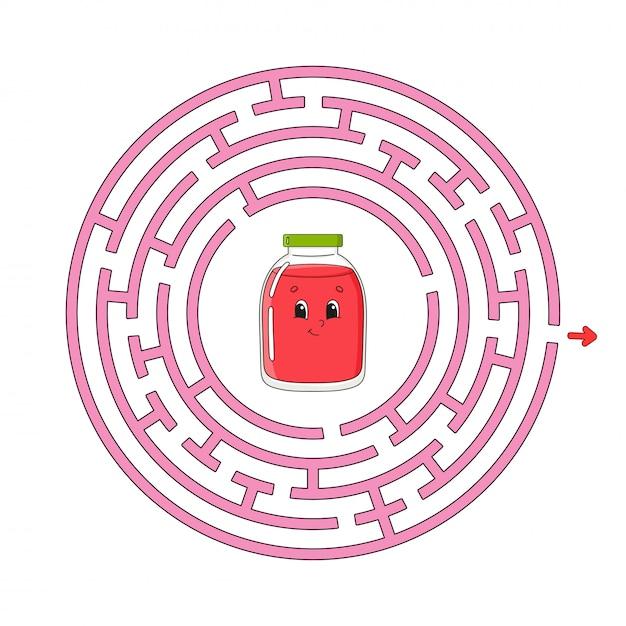 Lustiges labyrinth. Premium Vektoren