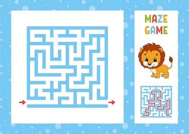 Lustiges labyrinthspiel Premium Vektoren