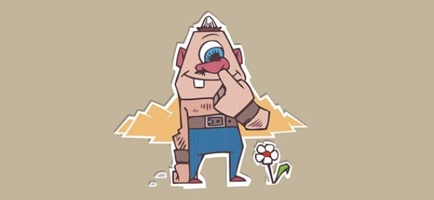Lustiges Monster Zeichentrickfigur | Download der kostenlosen Vektor