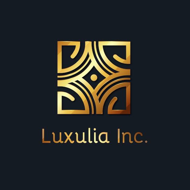 Luxuriöse goldene logo-vorlage Kostenlosen Vektoren