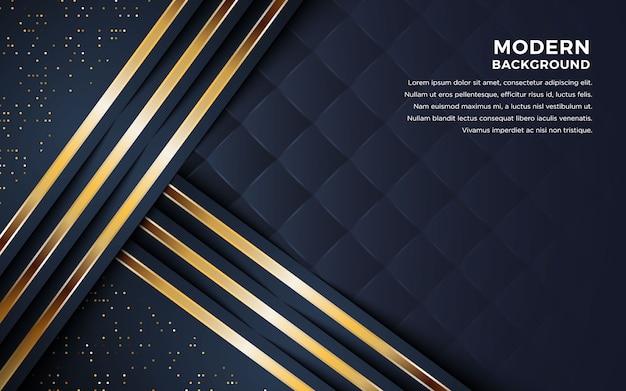 Luxuriöser abstrakter schwarzer hintergrund. Premium Vektoren