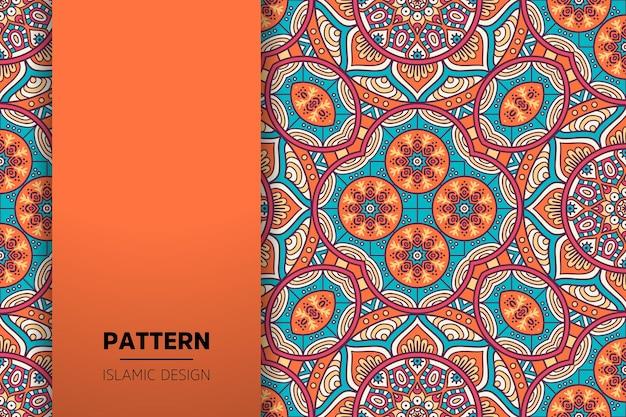 Luxuriöser dekorativer mandala-hintergrund in goldfarbe Premium Vektoren