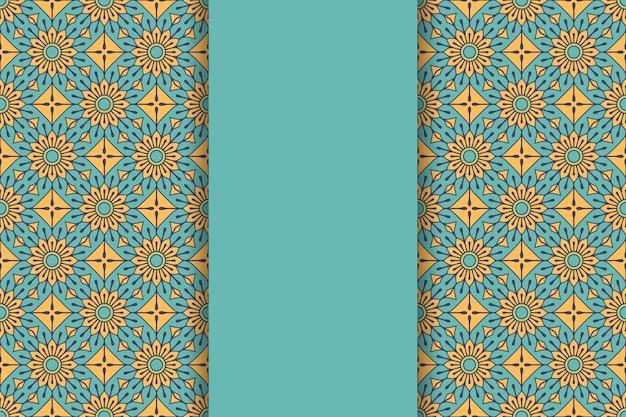Luxuriöser dekorativer mandala-hintergrund in goldfarbe Kostenlosen Vektoren