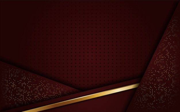 Luxuriöser eleganter goldener brauner hintergrund Premium Vektoren
