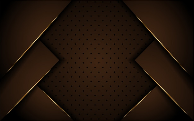 Luxuriöses dunkelbraunes hintergrunddesign Premium Vektoren