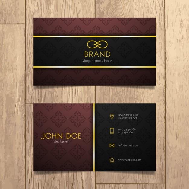 Luxury Business Card Design Kostenlose Vektoren