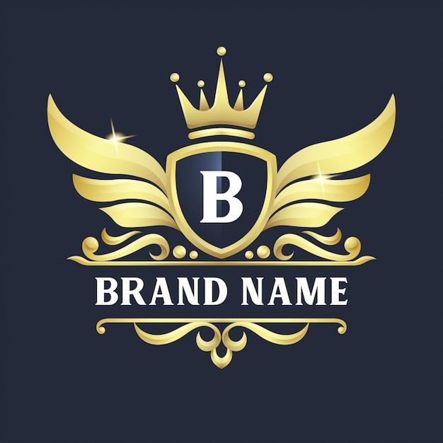 Luxus-abzeichen-logo-design Premium Vektoren
