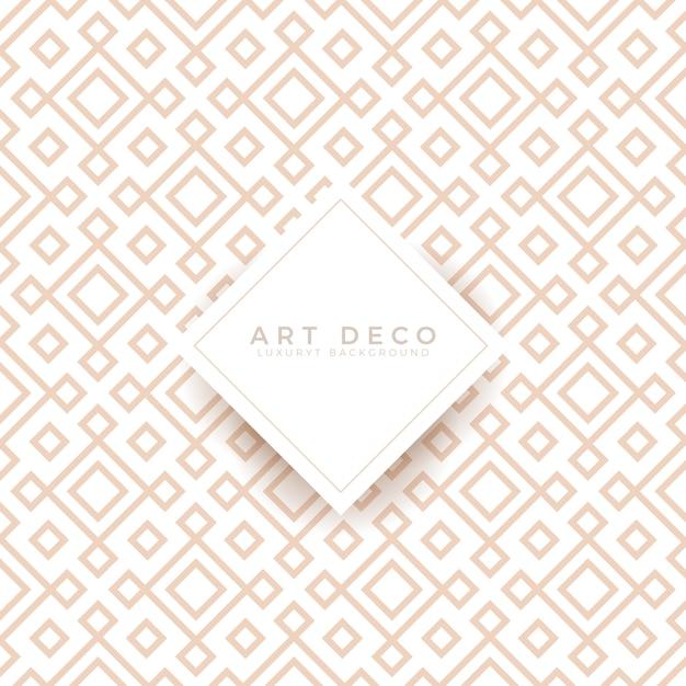 Luxus art deco nahtlose hintergrundgitter Premium Vektoren