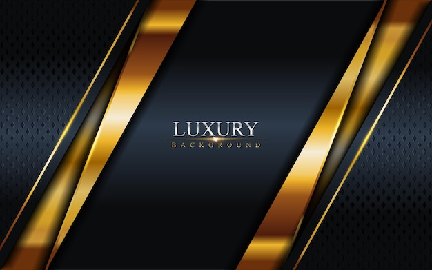 Luxus dark navy kombination mit golden lines hintergrund. grafisches element. Premium Vektoren
