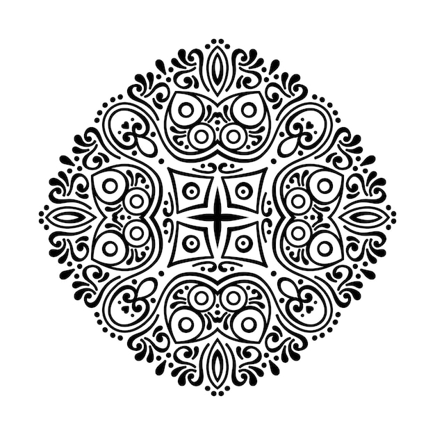 Luxus dekorative mandala illustration Kostenlosen Vektoren