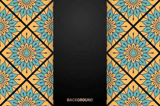 Luxus dekorativer mandala design hintergrund Kostenlosen Vektoren