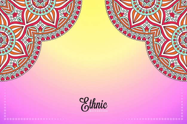 Luxus dekorativer mandala-designhintergrund im goldfarbvektor Kostenlosen Vektoren