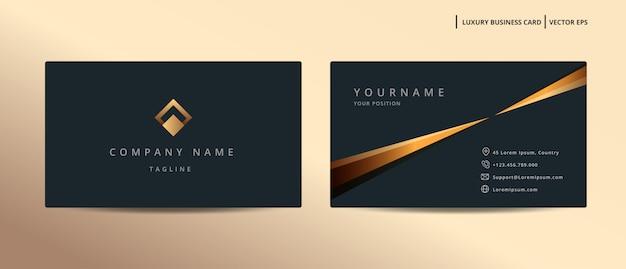 Luxus-design-visitenkarte mit minimalistischer vorlage des goldstils Premium Vektoren